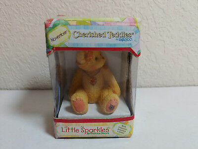Cherished Teddies Little Sparkles November Birthstone Bear Enesco NIB