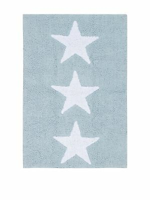 Happy Decor Kids HDK-228 Tappeto Lavabile, Three Stars, Blu, 120 x 80 cm