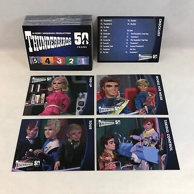 THUNDERBIRDS 50 YEARS (Unstoppable 2015) Complete 54 Card Set GERRY ANDERSON