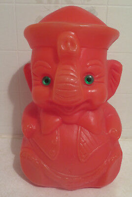 Vintage Gregg Products Elephant Blowmold bank
