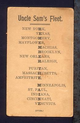 1898 Buffalo NY GERMANIA CAFE Trade Card Iroquois Beer REMEMBER MAINE Acrostic