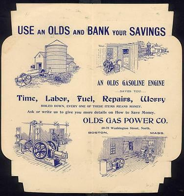 OLDS STATIONARY GASOLINE ENGINE Advertising Folder