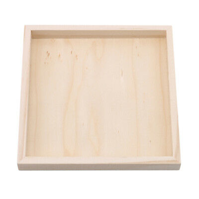 1Pcs Wood Plate for Six-Sided Painting Building Block Wood Pallet 12cm *12cm LD