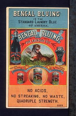 BENGAL BLUING Laundry Trade Card S. S. Newton Wells Torbert & Co Wilkes Barre PA