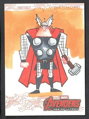 MARVEL AVENGERS AGE OF ULTRON Upper Deck SKETCH CARD by MIKE LEGAN