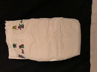 Vintage Luvs Diapers 1997 Barney 1st Edition with Smooth Plastic Backing!!Rare!