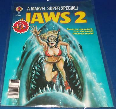1978 Vintage Marvel Super Special #6 Jaws 2 Movie Comic Bagged (KISS AD)