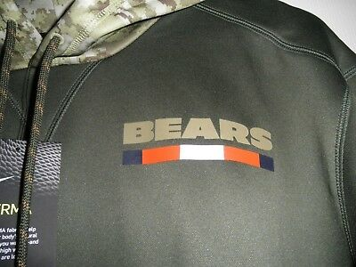 new products f4238 254bb 100% NIKE CHICAGO Bears 2017 Salute To Service Hoodie Sweatshirt NFL USA  Troops