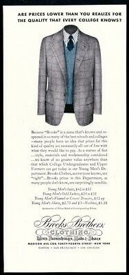 1941 Brooks Brothers young man's suit jacket color photo vintage print ad