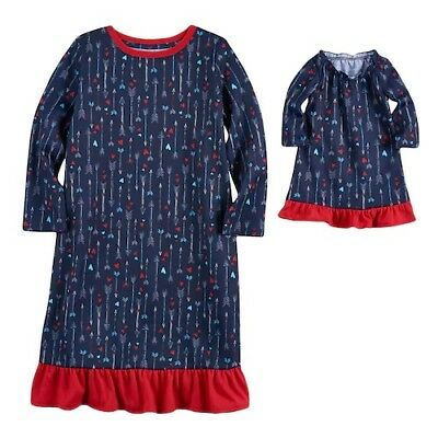 """4T Nightgown 18"""" doll Gown Dollie Me American Girl Jammies For Your Families NWT"""