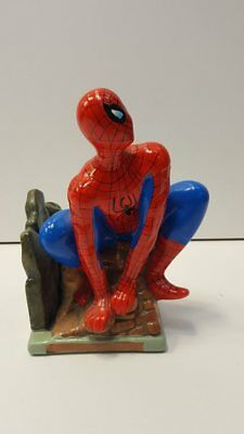 Painted Ceramic Spider-Man Coin Bank