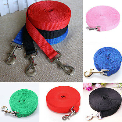 Pet Dog Leash Long Obedience Foot Feet Training Lead 6/15/20/30/50/100ft Dote