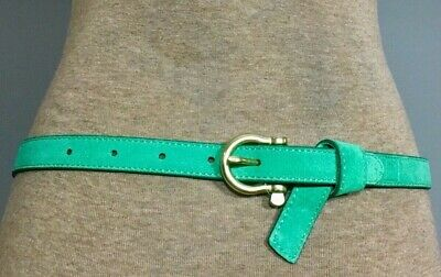 Sperry Belt- Green Suede Genuine Leather w/ Loop Detail Size Small