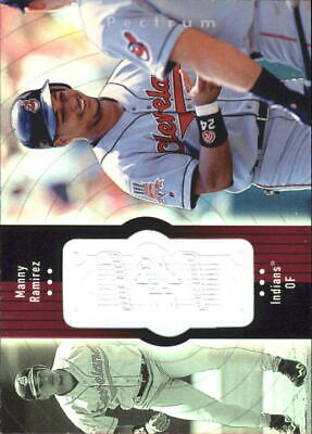 1998 SPx Finite Spectrum Cleveland Indians Baseball Card #77 Manny Ramirez /2250