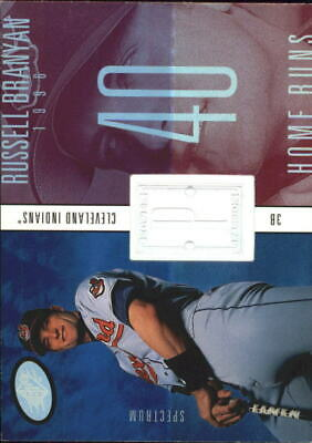 1998 SPx Finite Spectrum Indians Baseball Card #239 Russell Branyan PP /1750