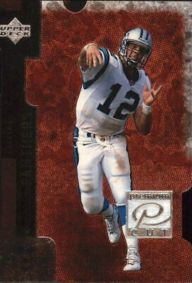 1998 Black Diamond Premium Cut Double Panthers Football Card #PC3 Kerry Collins