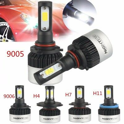 2x NIGHTEYE LED H1 H3 H7 H11 9006 9005 H4 9000LM Scheinwerfer Lampen