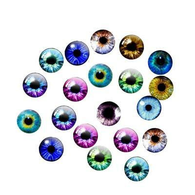 20Pcs Glass Dolls Eye Handcraft DIY Animal Eyes Jewelry Accessories 10/16/20mm