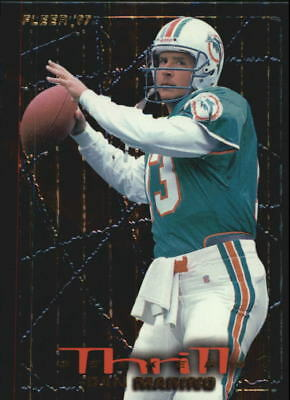 1997 Fleer Thrill Seekers Miami Dolphins Football Card #9 Dan Marino