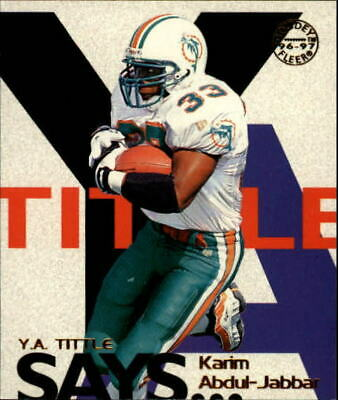 1997 Fleer Goudey Tittle Says Miami Dolphins Football Card #1 Karim Abdul-Jabbar