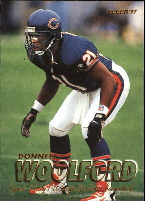 1997 Fleer Football Card #259 Donnell Woolford