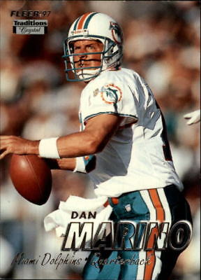1997 Fleer Crystal Silver Miami Dolphins Football Card #250 Dan Marino