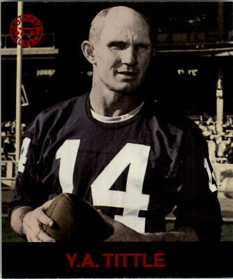 1997 Fleer Goudey Gridiron Greats #147 Y.A. Tittle