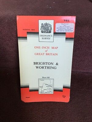 Old Ordnance Survey Map Seventh Series 182 Brighton Amd Worthing