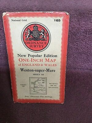 Old Ordnance Survey Map New Popular Edition Weston Super Mare 165