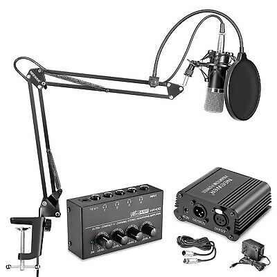 NW-700 Microphone and 48V Phantom Power Kit with Headphone Amplifier
