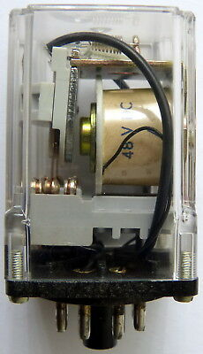 Marvid 48V 8-Pin 2 Pole Plug-In Relay