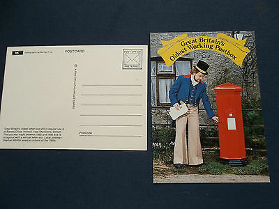Swpr 5 Postcard Great Britains Oldest Working Postbox Holwell Dorset