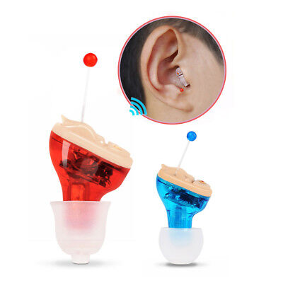 Mini Digital Hearing Aid CIC Sound Amplifier Voice Small Enhancer UK