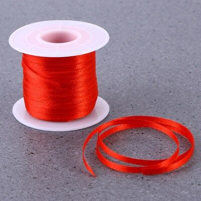 50m Satin Ribbon Reels Double Sided Faced 3mm Bows Ribbon Craft PartyGift