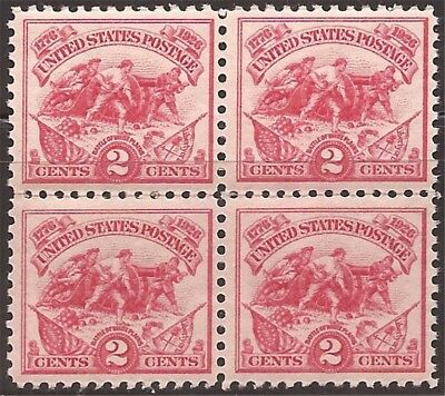 US Stamp 1926 Battle of White Plains 4 stamp Block NH #629