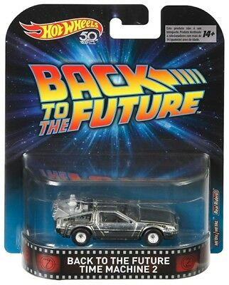 Hot Wheels 1/64 Back To The Future Time Machine 2 Delorean Car