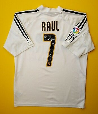 separation shoes 3adda f008b 4/5 RAUL REAL Madrid jersey small 2004 2005 home shirt size 34 / 36 Adidas