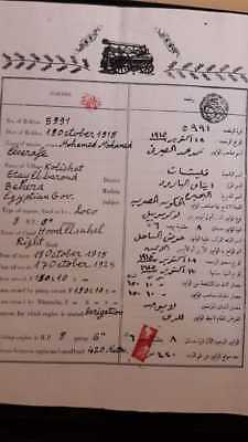 EGYPT Irrigation Machine License  1915