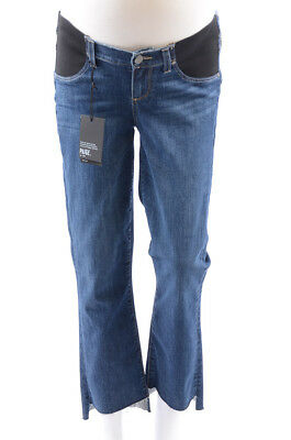 d294f375bd267 Paige Maternity Riley Deena blue 26 S cropped flare denim jean pant NEW $229