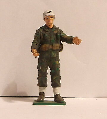 Vintage approx. 1/32 scale MP military cop policeman police man soldier
