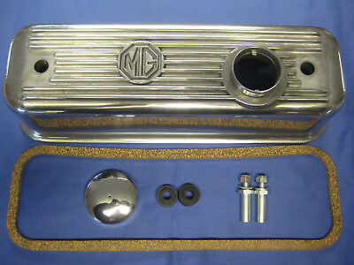 Mg   New Mgb Roadster / Gt B Series Alloy Rocker Cover Kit   ***