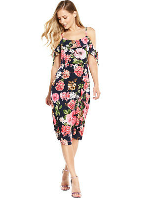 V By Very Frill Front Maxi Dress In Print Size 10