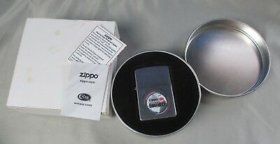 Vintage 2004 Zippo Swap Meet Lighter in Tin w/ Paper Unfired From Collection #5