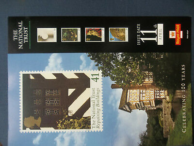 Royal Mail A4 Post Office Poster 1995  National Trust