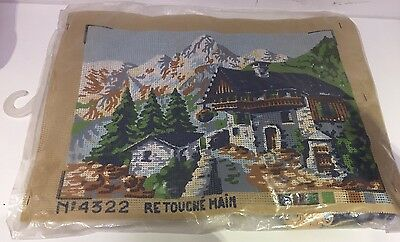 Vintage French Tapestry Needle Craft Cross Stitch Alps No.4322 Retouche Main