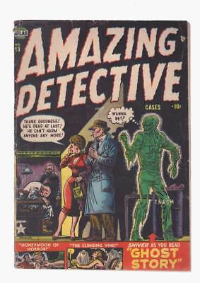 Amazing Detective Cases # 13  Ghost Story !  grade 3.5 scarce Atlas book !