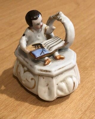 Victorian Fairing- Trinket Box - Child With Book And Mirror