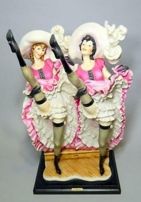 VERY RARE Signed Vintage Giuseppe Armani Figurine, Can Can Dancers, Model #156C