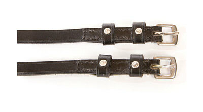 """Hyclass Black Leather With Diamante Spur Straps 19"""" Heart Star Flower Etc"""