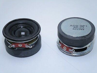 1pz Mini speaker altoparlante audio 4 ohm 3W Ø 40mm ADS-SF1 per fai da te